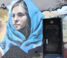 "Artist : Young Jarus ""Toronto Canada"" Graffiti, Art In Public Places, Public Art, Murals Street Art, Find Art, Types Of Art, Graffiti Girl, Land Art, Sidewalk Chalk Art"