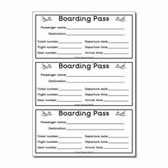 Flight boarding pass worksheet.