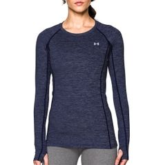 Dial up your training routine with the Under Armour® Women's ColdGear® Cozy Crewneck Long Sleeve Shirt. Designed to keep you warm, EVO ColdGear® fabric has a smooth, fast-drying exterior and soft, heat-trapping interior. Built-in moisture-wicking properties keep you light, while four-way stretch construction enhances mobility in any direction. For the ultimate cold weather performance, try the UA ColdGear® ColdGear® Cozy Top.
