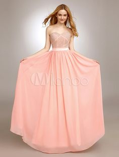 Sweetheart Prom Dress With Beading Chiffon - Get splendid discounts up to 70% Off at Milanoo using Coupon & Promo Codes