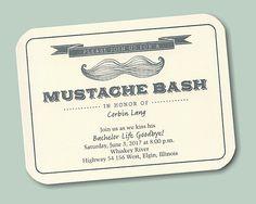 Mustache Bash Bachelor Party Invitation