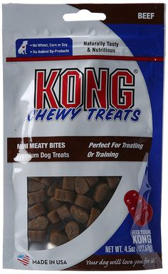 KONG Premium Treats Mini Meaty Bites, Beef > Additional details found at the image link  : Dog Treats