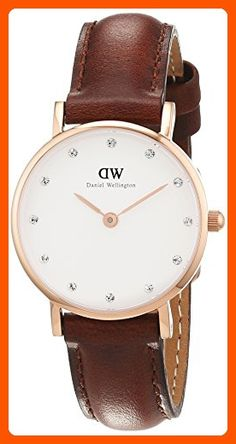 Daniel Wellington Women's 0900DW St. Mawes Stainless Steel Watch with Brown Strap - All about women (*Amazon Partner-Link)