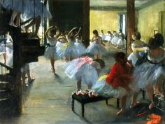 """The Dance Class"" by Edgar Degas, circa 1873  