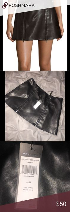 "BCBGMAXAZRIA ""Mayra"" leather double zip skirt **perfect condition, never worn: brand new** BCBG Skirts Mini"