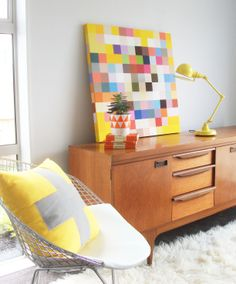 Colorful art makes this space pop