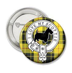 Scottish Terrier Tartan Button or Fridge Magnet by TheTartanPup