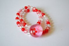 Beaded Bracelet Multi Strands Pink Beads Best #BBR 4 by eventsmatters on Etsy