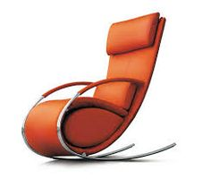 Steel based modern rocking chair