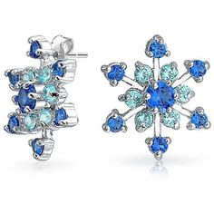 Bling Jewelry Bling Jewelry Rhodium Plated Winter Blue Color Cz... ($21) ❤ liked on Polyvore featuring jewelry, earrings, blue, fake jewelry, cubic zirconia earrings, blue cubic zirconia earrings, cz earrings and blue stud earrings