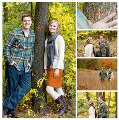 Fall couple, Flannel, orange, green, what to wear, LABLphoto, fall photo shoot, couple, fall engagement photo shoot, fall photos, fall photoshoot, carving initials into a tree, leaves,
