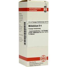 MILLEFOLIUM D 4 Dilution:   Packungsinhalt: 20 ml Dilution PZN: 02618218 Hersteller: DHU-Arzneimittel GmbH & Co. KG Preis: 5,95 EUR inkl.…