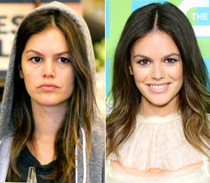 Rachel Bilson  On left: shopping for groceries in Hollywood on July 13, 2012  On right: attending The CW's Upfront event in New York City on May 17, 2012