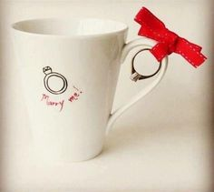 Perfect proposal for a coffee or tea fanatic
