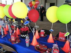 Disney Cars themed birthday party my mother and I did  This was one of the tables