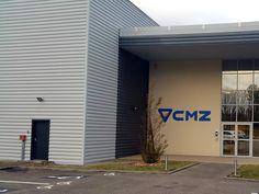 Enseignes bâtiment industriel CMZ Wine Decor, Fabricant, Facade, Garage Doors, Outdoor Decor, Metal Siding, Applique Letters, Building Facade, Industrial