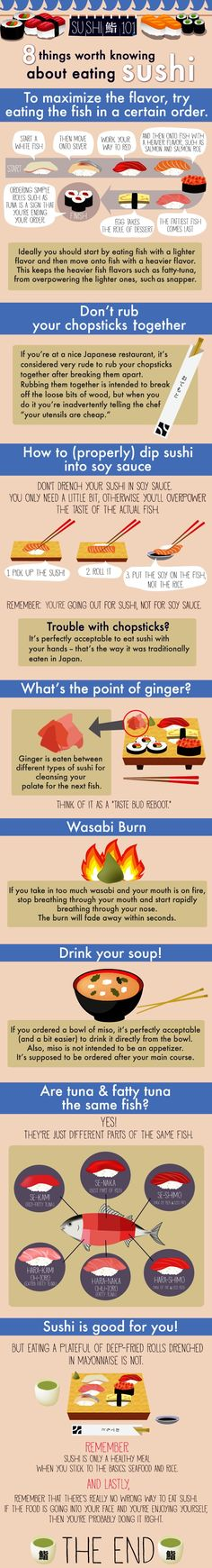 good stuff to know, even if I use ginger on my sushi... helps balance the taste of wasabi, I find...