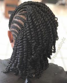 Natural Hair Protective Styles Vol. 1 - Fashion Ruk - Natural Hair Protective Styles Vol. Protective Hairstyles For Natural Hair, Natural Hair Braids, Braided Hairstyles For Black Women, African Braids Hairstyles, Twist Hairstyles, Amazing Hairstyles, Hairstyles Pictures, Hair Twist Styles, Curly Hair Styles