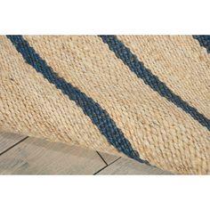 Cripps Hand-Woven Indigo/Wheat Area Rug