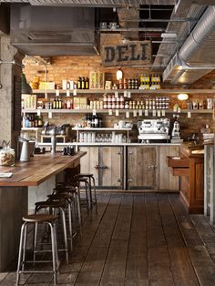 Pizza East @ Shoreditch - this type of area would be perfect in my future barn shop