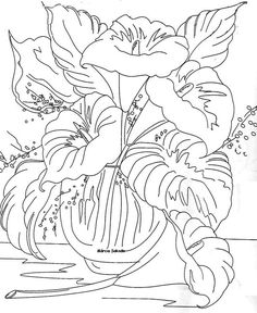 calas Doodle Coloring, Colouring Pages, Adult Coloring Pages, Coloring Books, Painting Patterns, Craft Patterns, Fabric Painting, Vintage Embroidery, Embroidery Patterns