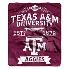 Texas A&M Aggies Blanket 50x60 Raschel Label Design Z157-8791821946