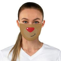 CHRISTMAS FABRIC MASK, Rudolph Nose Face Mask, Xmas Face Mask, Quarantine Face Mask, Social Distancing Mask Non-medical face masks help you express yourself even when you cant show your face. Add an extra layer of protection with a personalized touch. These reusable cloth face masks made of 100% Reindeer Face, Red Nosed Reindeer, Diy Mask, Diy Face Mask, Face Masks, Dainty Engagement Rings, Mask Shop, Rudolph The Red, Christmas Fabric