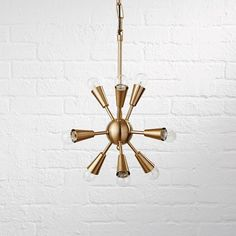 Retro pendant light is ready to hang out and add a touch of vintage style to any bedroom, playroom or kids' bedroom. Designed as an updated version of the classic sputnik lamp. Nursery Lighting, Kids Lighting, Kids Ceiling Lights, Wall Lights, Modern Nursery Decor, Nursery Ideas, Room Ideas, Brass Pendant Light, Pendant Lights