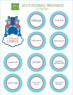 Free printables for train party