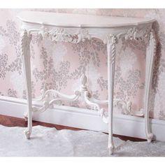 Provencal Marie Antoinette White Console Table