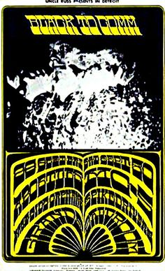 This concert postcard is from 9-29/30-67.at the grande ballroom..The bands performing were,SEPTEMBER 29/FRIDAY..1967.--The Apostles.--Eastside Orphans.--Happiness Tickets.SEPTEMBER 30/SATURDAY:--MC5.--The Spike Drivers.Artist: Gary Grimshaw.Photo: Leni Sinclair.