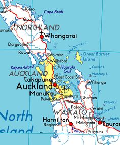 Map :) North Island New Zealand