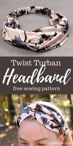 Twist Turban Headband Free Sewing Pattern Free Baby Patterns, Free Sewing, Knitting Patterns Free, Twist Headband, Turban Headbands, Sewing Headbands, Diy Sewing Projects, Sewing Tutorials, Sewing Ideas