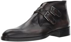 Donald J Pliner Men's Zigor Fashion Boot, Black Dipped Calf, 13 M US Fashion Boots, Mens Fashion, Double Monk Strap, Black Boots, Men's Boots, 2 Inch Heels, Shoe Collection, Timeless Fashion, Calves