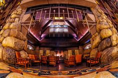 Disney's Grand Californian Hotel & Spa is the flagship hotel at Disneyland Resort with a AAA four-diamond rating that is themed as a bygone-era Nationa