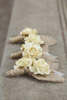 A Beautifully Rustic Destination Wedding, 2014 Rusitc Beach Wedding Burlap Flowers