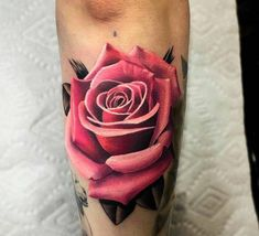 The bicep decorated with the Pink Rose Tattoos by Mikhail Anderson is a cool tattoo idea to be inked on man or woman. Rose Tattoos Tumblr, Rose Tattoos For Women, Pink Rose Tattoos, Beautiful Flower Tattoos, Pretty Tattoos, Cool Tattoos, Rose Drawing Tattoo, Watercolor Rose Tattoos, Cover Up Tattoos