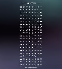 168 Free Icons, #Free, #Icon, #PSD, #Resource