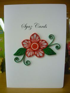 Syaz Cards: New year, new flower