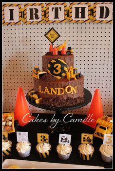 Construction Birthday Party Ideas | Photo 1 of 14 | Catch My Party @ http://catchmyparty.com/photos/993672