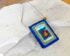 Like A Landscape  Textile Necklace / Inspirational by ArtofJane2