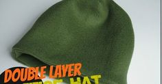 Easy winter hat to sew with two layers of fleece.