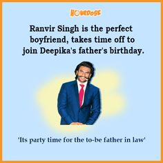 Ranvir Singh is the perfect boyfriend, takes time off to join Deepika's father's birthday.