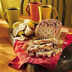 Cinnamon Crisp-Topped Cream Cheese-Banana-Nut Bread | MyRecipes.com