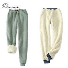 Dreawse Winter Women Casual Velvet Harem Pants Thick Loose Shirley Female Fleece Long Trousers Pantalones <font><b>Pitillo</b></font> Mujer MZ2089