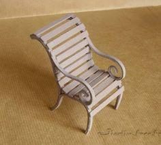 Jicolin minis: Garden armchair tutorial ( bristol board)