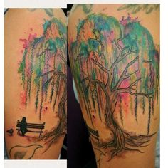 Image result for willow tree watercolor tattoo