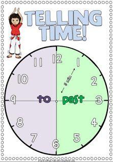 Telling Time Poster FREEBIE