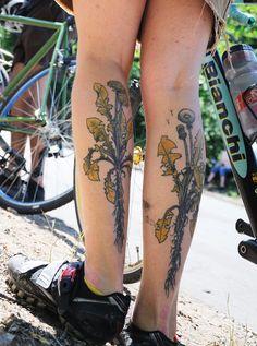 Matching calf tattoos
