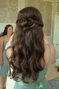 Bridesmaids Hair Half up Half Down www.weddingmakeupandhairstyling.co.uk Hair  Makeup by Katy Richards